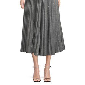 LAFAYETTE 148 Pleated Sequin Midi Skirt w/ Tags